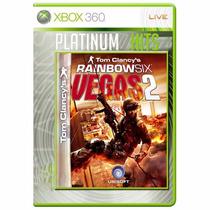 Rainbow Six Vegas 2 Platinum Xbox 360 Original Lacrado A5399