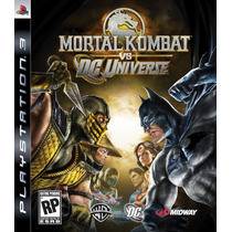 Mortal Kombat Vs Dc Universe - Ps3 - Artgames Digitais