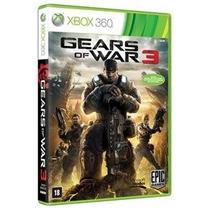 Gears Of War 3 Xbox 360 - Novo Lacrado Português - Rcr Games