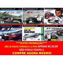 Formula 1 - 2014 Para Playstation 2 (kit 6 Jogos) F1 2014