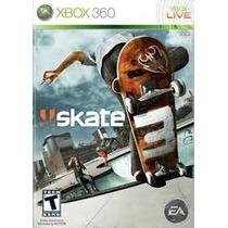 Jogo Skate 3 Xbox 360 Original Lacrado Pronta Entrega