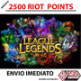 League Of Legends Lol 2500 Rp Envio Imediato.