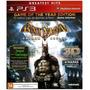 Jogo Ps3 Batman Arkham Asylum Em 3d Novo Original