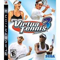 Ps3 - Virtua Tennis 3 - Midia Fisica - Semi Novo