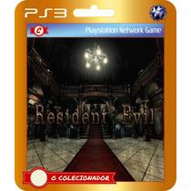 Resident Evil Hd Remake (código Ps3) Remaster!