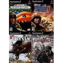 Conflict Para Playstation 2 (kit 4 Jogos Ps2 Guerra / Tiro