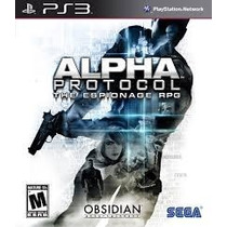 Alpha Protocol The Espionage Rpg - Ps3 Mídia Física Novo