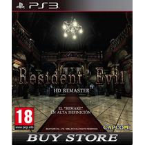 Resident Evil Hd Remaster Ps3 - Psn - Promoçao!