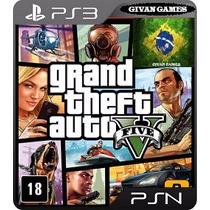Gta V 5 Ps3 Play 3 Psn Midia Digital Portugues Pt - Br