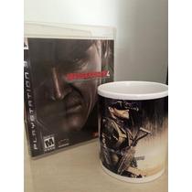 Kit Metal Gear Solid 4: Jogo + Caneca #frete Grátis #