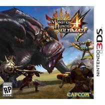 Monster Hunter 4 Ultimate Nintendo 3ds - Novo - Lacrado
