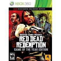 Red Dead Redemption Goty - Xbox 360 - Novo E Lacrado!