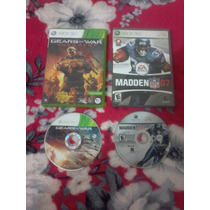 Dois Jogos Xbox 360 Originais Gears Of War E Madden Nfl