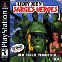 Army Men Sarges Heroes - Playstation 1 - Psx - Frete Gratis.