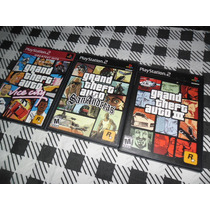 Trilogia Gta, San Andreas, Gta 3 E Vice City. Originais Ps2