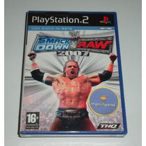 Smack Down Vs Raw 2007   Luta   Jogo Ps2   Original