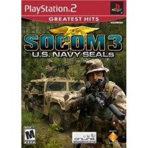 Caixa 100 Jogos Socom 3 U.s. Navy Seals Ps2 Novo Atacado
