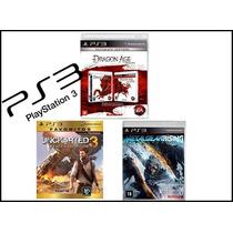 Kit 3 Jogos Ps3 Dragon Age Uncharte 3 E Metal Gear Rising