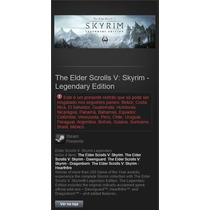Elder Scrolls V Skyrim Legendary Edition Steam Cd-key Gift