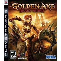 Jogo Ps3 Golden Axe Beast Rider Original E Lacrado M. Física