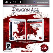 Dragon Age Origins Ultimate Edition + 7 Dlc - Ps3 - Novo