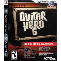 Jogo Ps3 - Guitar Hero 5 - Usado