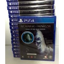 Terra Média Sombras De Mordor Goty Ps4 Lacrado Rcr Games