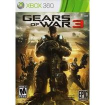 Jogo Gears Of War 3 Português X360