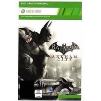 Batman Arkham City. Em Portugês. Cartão Xbox Live. Xbox 360