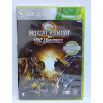 Mortal Kombat Vs Dc Universe Xbox 360 Lacrado Midia Fisica