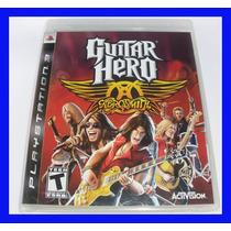 Guitar Hero Aerosmith Ps3 Playstation Lacrado Original