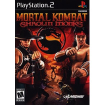 Mortal Kombat Shaolin Monks Ps2 Patch Impresso Na Mídia