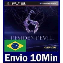 Resident Evil 6 Ps3 Código Psn Legendas Em Português
