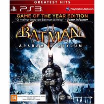 Batman Arkham Asylum Goty + Dlc Coringa Novo Ps3 Rcr Games