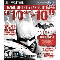 Jogo Ps3 - Batman Arkham City Goty - Usado