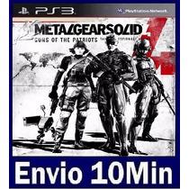 Metal Gear Solid 4 Guns Of The Patriots Ps3 Código Psn
