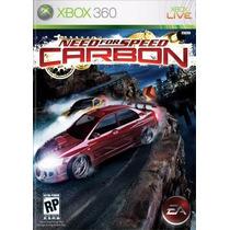 Need For Speed Carbon Mídia Física Xbox 360 Lacrado