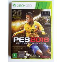Pes 2016 Xbox 360 Original Português Mídia Física