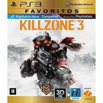 Jogo Killzone 3 Ps3 Sony - Mídia Física