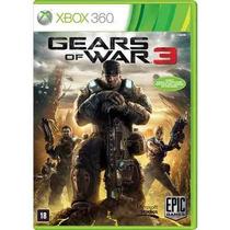 Jogo Gears Of War 3 - Xbox 360 - Midia Fisica - Lacrado
