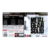 Metal Gear Solid: The Legacy Collection Ps3 - Novo / Lacrado