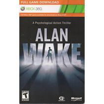 Alan Wake Xbox 360 Original Mídia Digital Código 25 Digitos