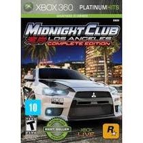 Midnight Club Los Angeles Complete Edition Xbox360 Lacrado