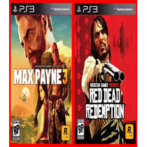 Combo Red Dead Redemption E Max Payne 3 Ps3 Psn
