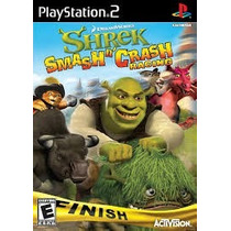 Shrek Smash N¿ Crash Racing Ps2 Patch Com Capa E Impressão