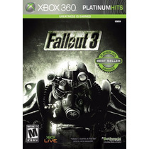 Fallout 3 Xbox 360 Platinum Hits Original Lacrado A5488