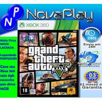 Gta 5 Grand Theft Auto 5-xbox360 Português M.física F.grátis