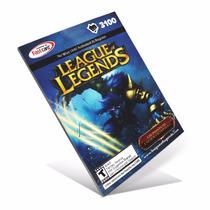 League Of Legends Lol - Cartão 3100 Riot Points Rp Br Brasil