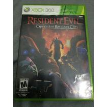 Resident Evil Operation Raccoon Xbox 360