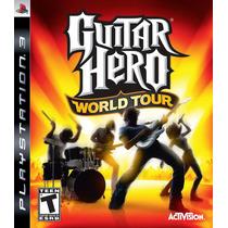 Guitar Hero World Tour Frete Grátis Jogo Ps3 Sdgames